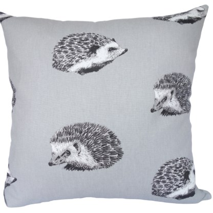 Grey Hedgehogs design Scatter Cushion, home decor gift