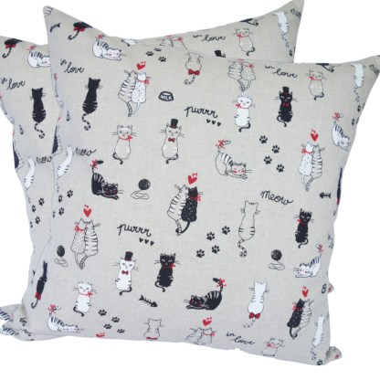Cats in Love design Scatter Cushion