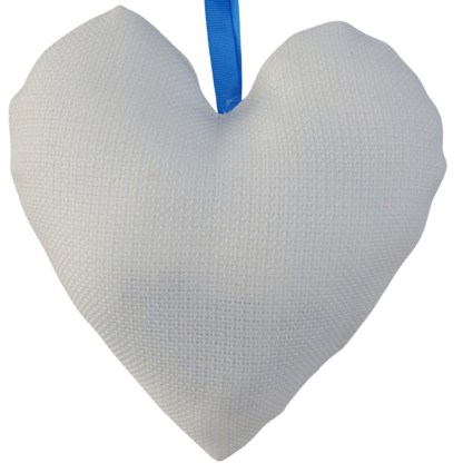 Padded Hanging Heart - Blue Butterfly, embroidered gift