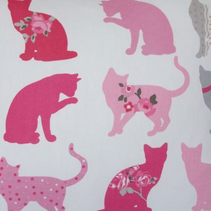 Pink Cats Scatter Cushion, home decor gift