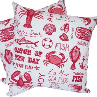 Catch of the Day design Scatter Cushion