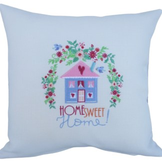 Home Sweet Home Embroidered Cushion