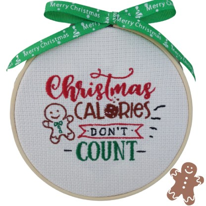 Christmas Diet Embroidered Hoop