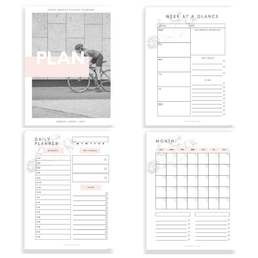 Athlete Planner - Poppy Sports