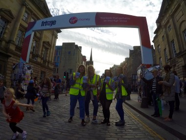 Flying on the royal mile