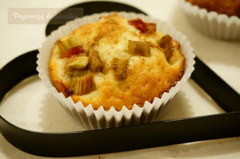 muffinki z rabarbarem przepis