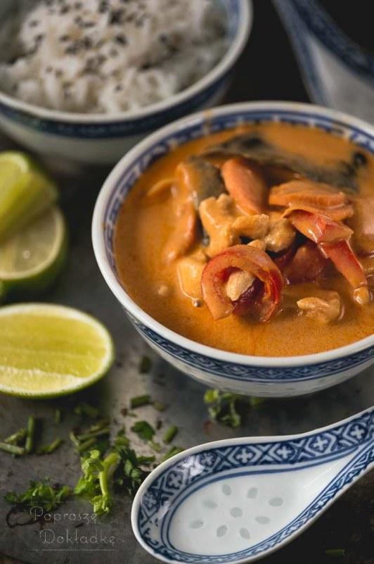 Thai Red Curry Oryginalne Tajskie Czerwone Curry Poprosze Dokladke
