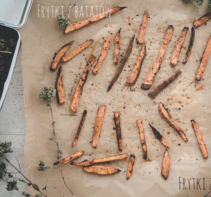 Pieczone frytki z dyni i batatów