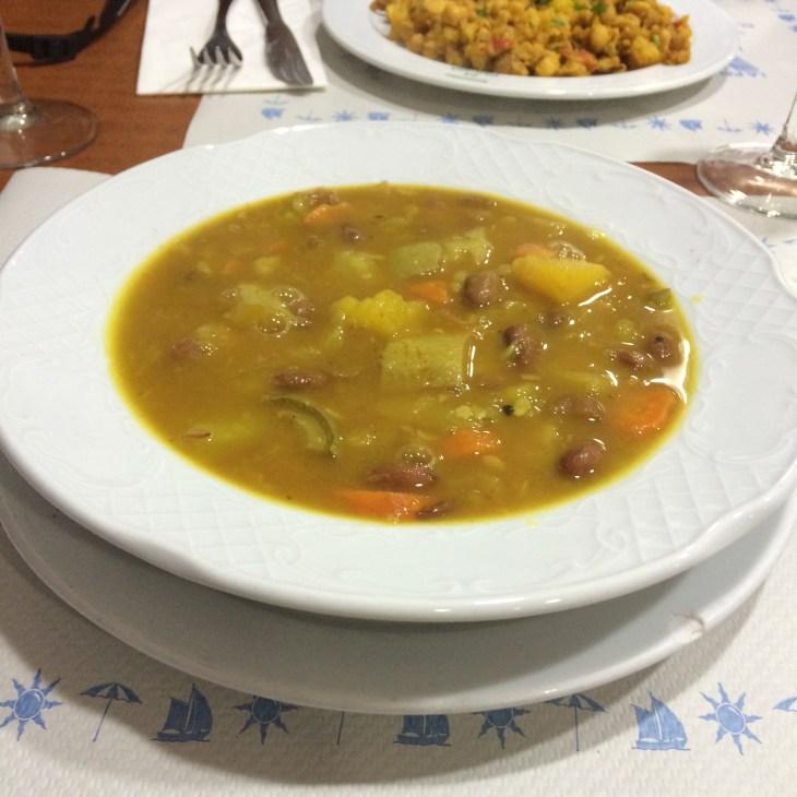 Ropa vieja - jedzenie na Wyspach Kanaryjskich, Gran Canaria