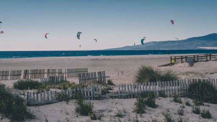 Kitesurfing w Tarifie, Hiszpania, Andaluzja