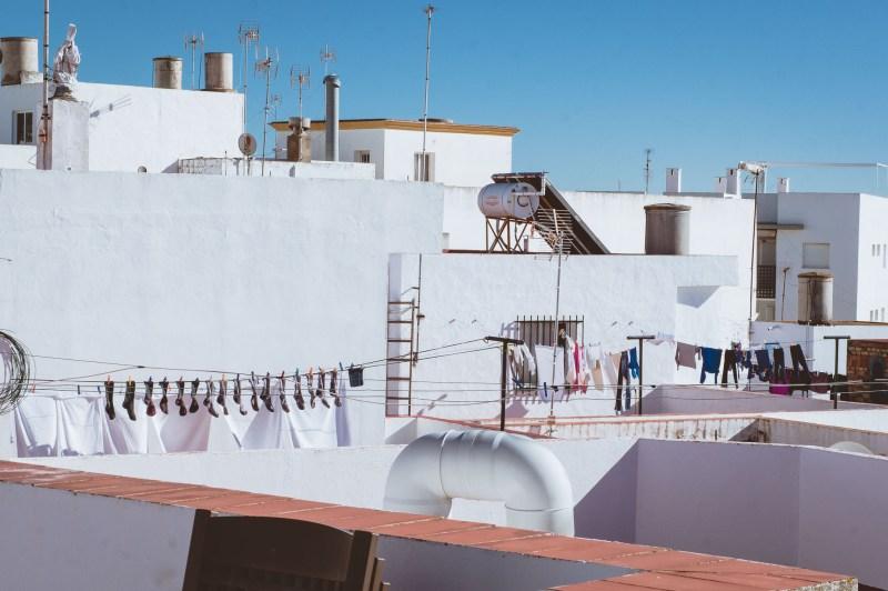 Typowy widok na dachach domów w Andaluzji