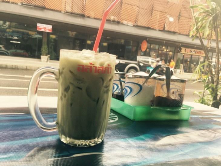 zielona herbata ze słodkim mleczkiem? bardzo proszę!