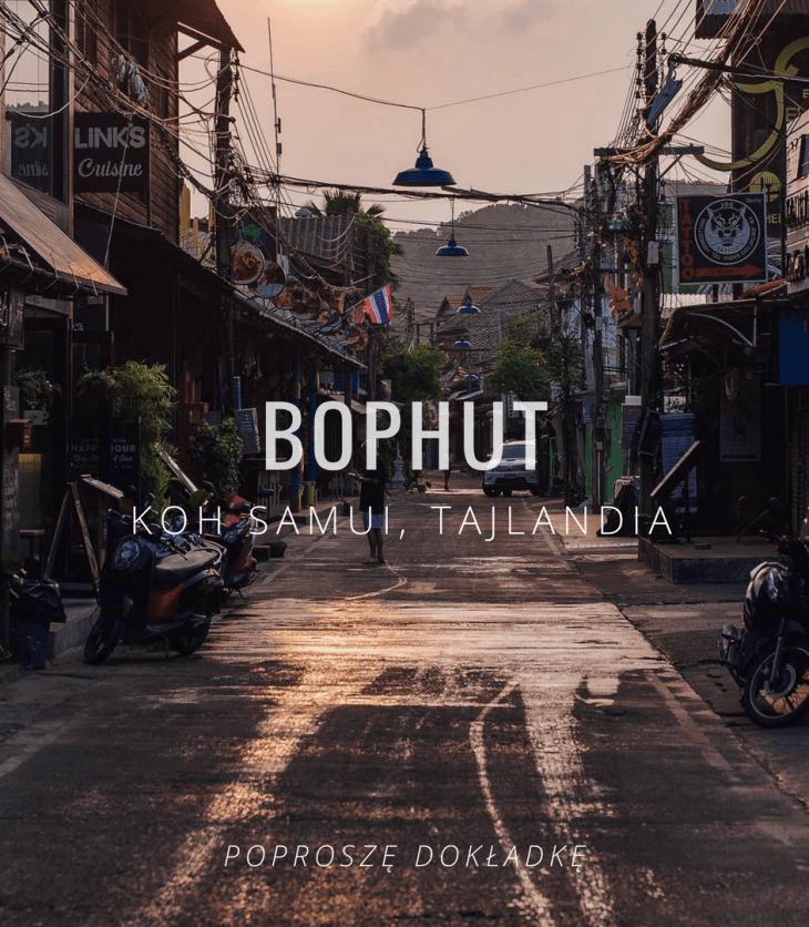 Tajlandia, Koh Samui, Bophut - gdzie zjeść, night market