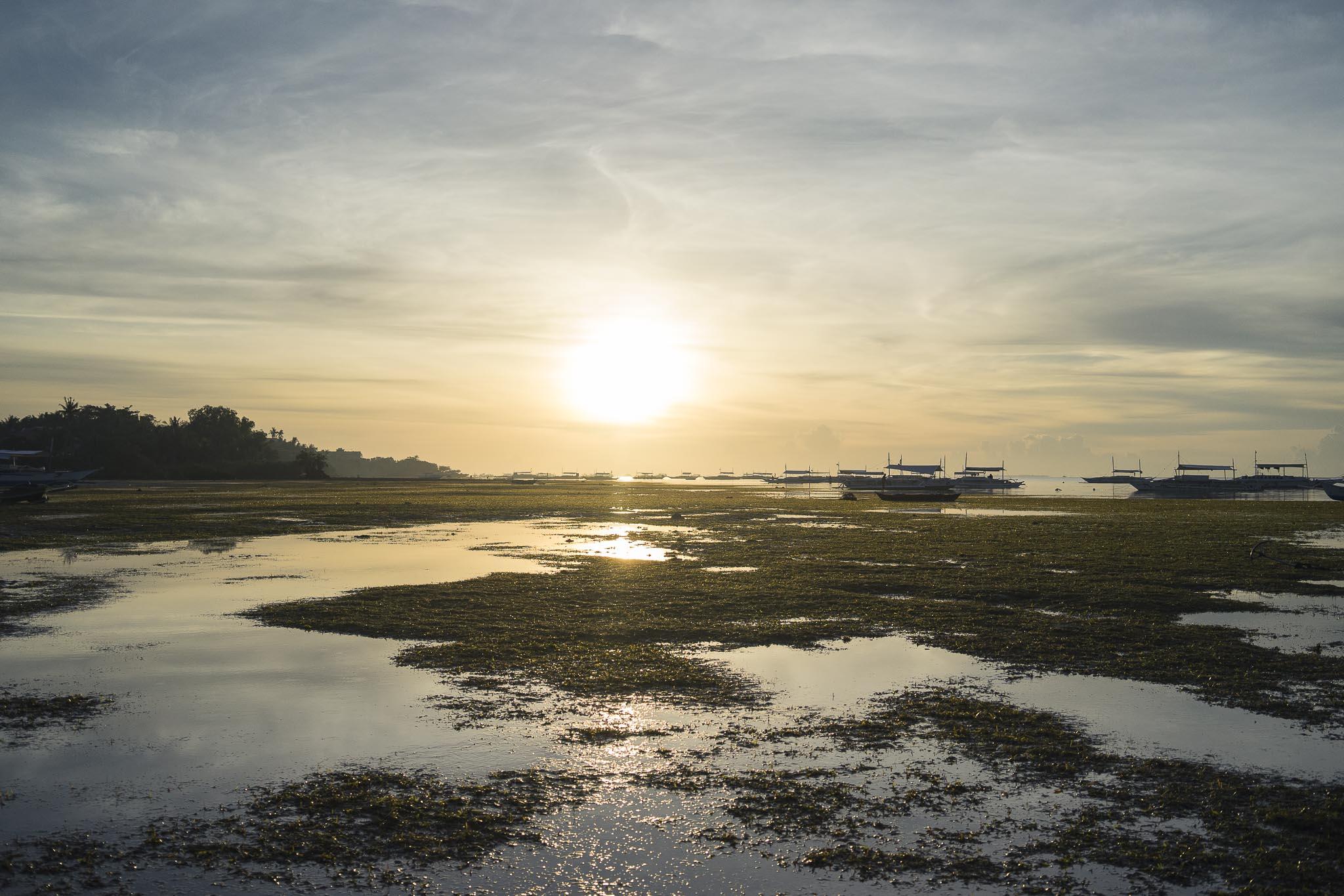 Danao Beach o wschodzie słońca