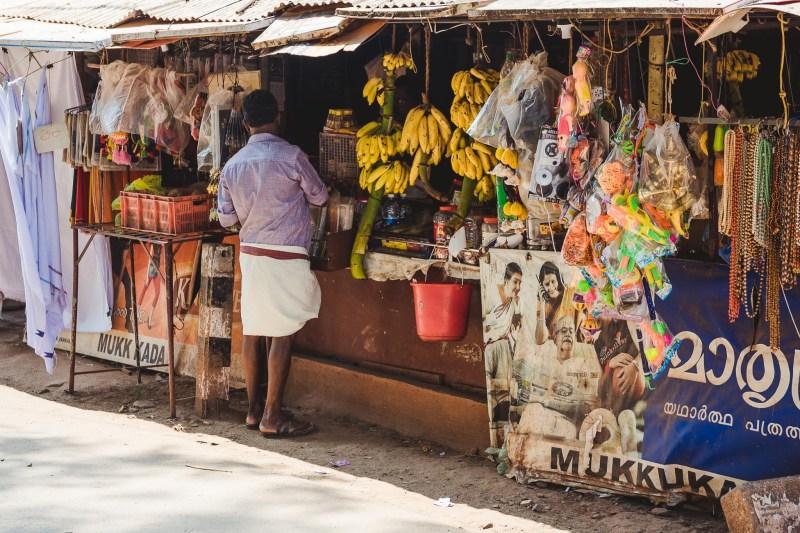 Lokalny kiosk, Varkala, Kerala, Indie