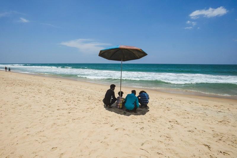 Varkala beach, Kerala, Indie