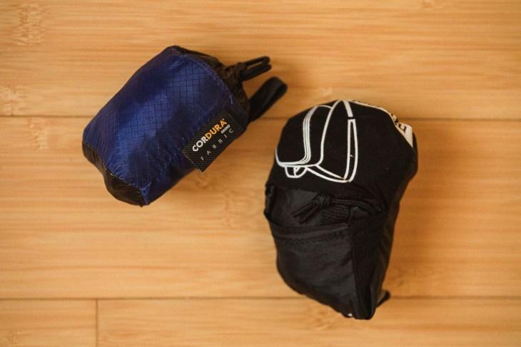 plecaki po zwinięciu - zajmują mało miejsca i sa bardzo lekkie