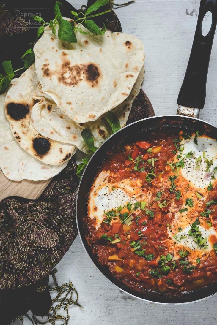 Szakszuka na ostro - jajka smażone w ostrym sosie po arabsku