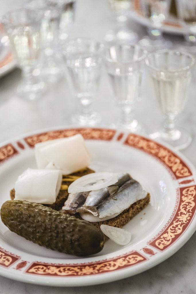 doskonałe przekąski w Muzeum Rosyjskiej Wódki