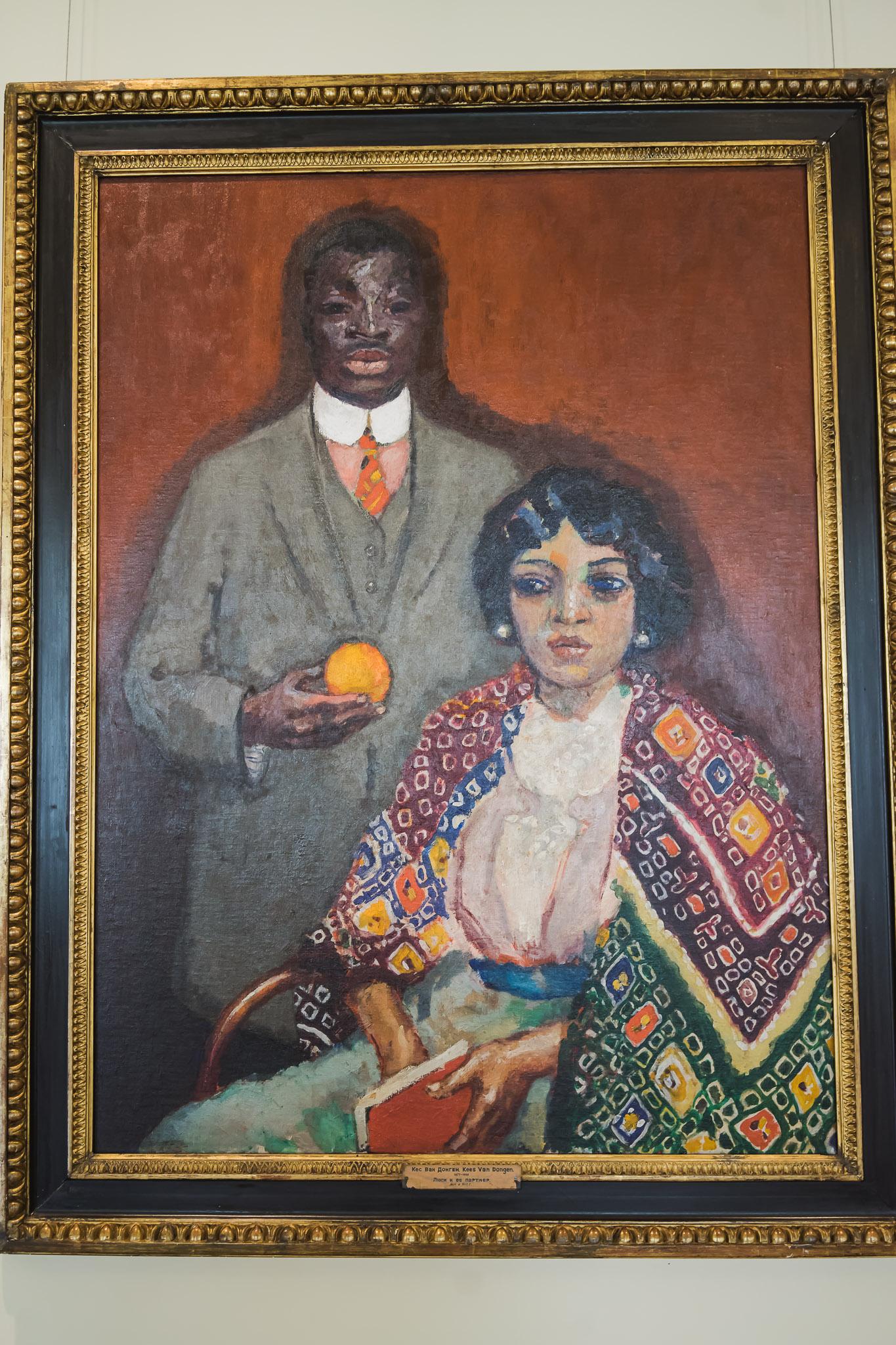 Obraz, jeden z wielu w Ermitażu