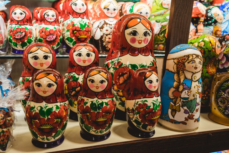 matrioszki - pamiątki z Petersburgaa