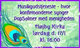 Konfirmandworkshop med Musikgudstjeneste d. 17. januar, Højby Kirke