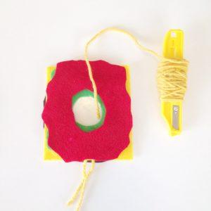 make a spool to save time | Make a Yarn Spool | How to Make a Pom Pom with Yarn | DIY Pom Pom Burger from the Pop Shop America Blog