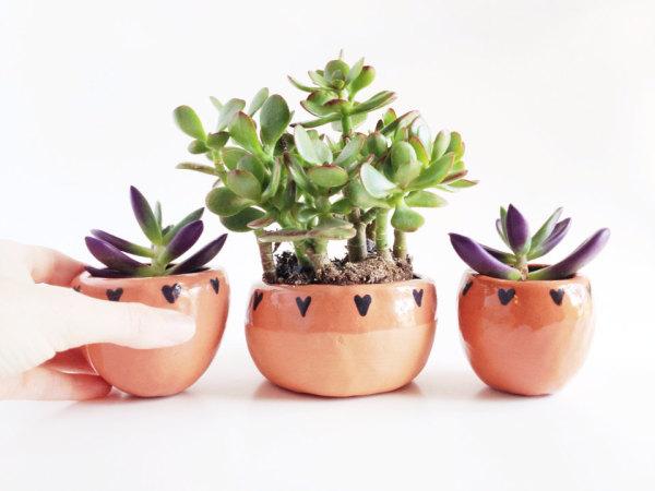Handmade Ceramics at Pop Shop America online shopping website | Terrarium Planters | Succulent Planters | Indoor Pots for Plants