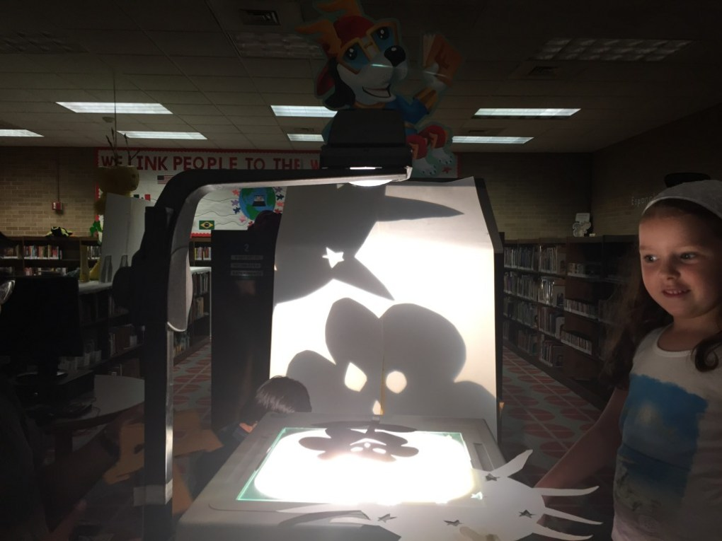 Shadow Puppets Workshop | This was a kids workshop at Houston Public Libraries. We made handmade shadow puppets and then staged a puppet pageant.