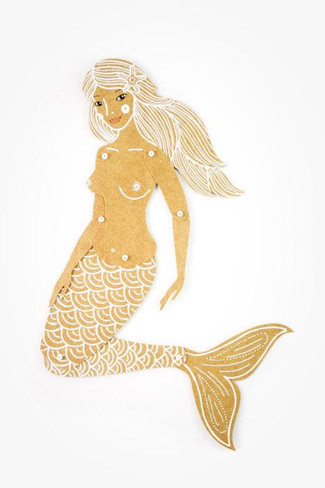 MD Paper Dolls | Paper Mermaid by Maria Dubrovskaya