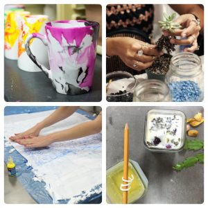 these are pop shop america craft workshops and art classes that take place at txrx labs hackerspace