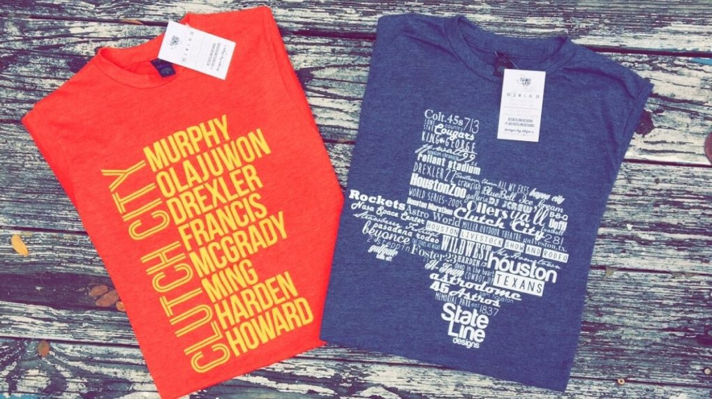 Houston Rockets T Shirts stateline design handmade sale 2015