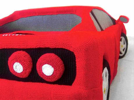 Yarn Art Ferrari by Lauren Porter Contemporary Sculpture