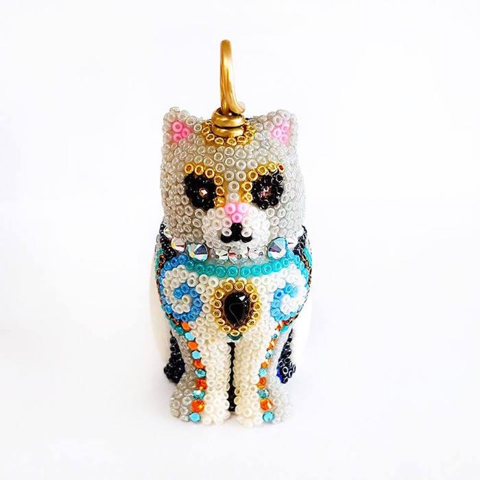 Kitten Egyptian Cat Handmade Pendant by Brass Thread Houston Jewelry