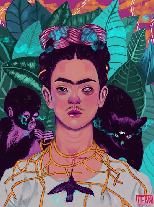 Frida Khalo by Nichole Fern Contemporary Artist