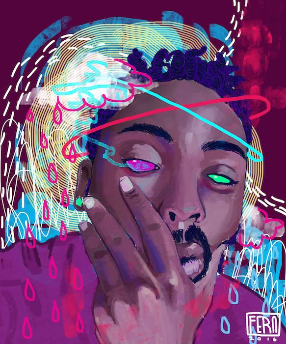 Zombie 2Pac by Nichole Fern Visual Artist