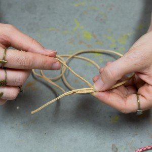 step 2 how to tie a leather slip knot boho bracelet diy