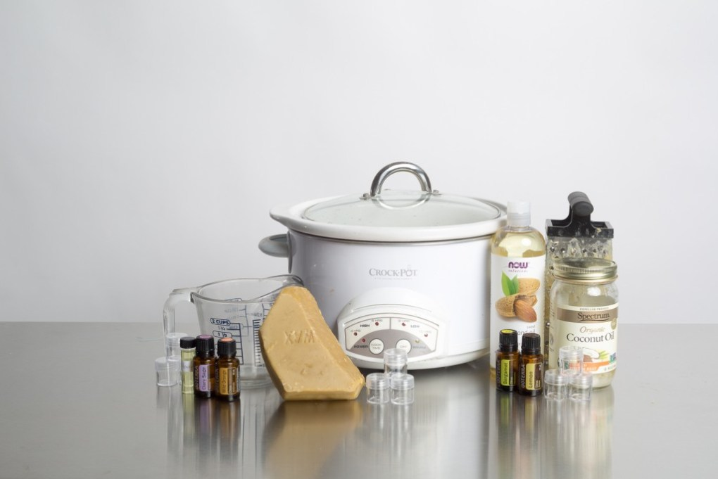 supplies to make your own essential oil lip gloss