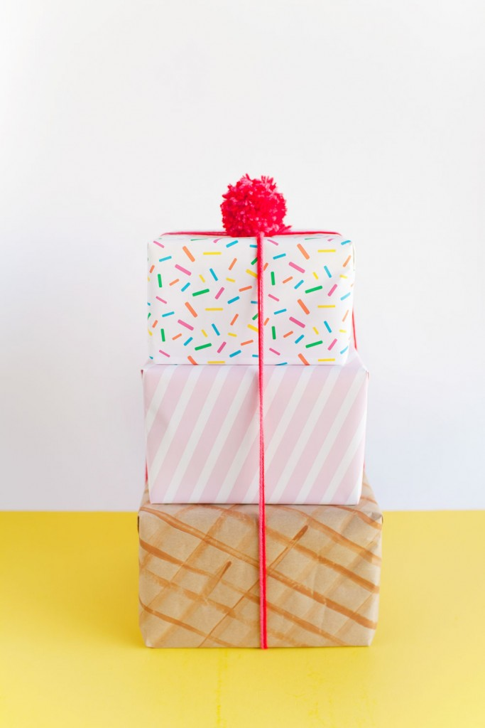 ice-cream-wrapping-paper diy packaging ideas
