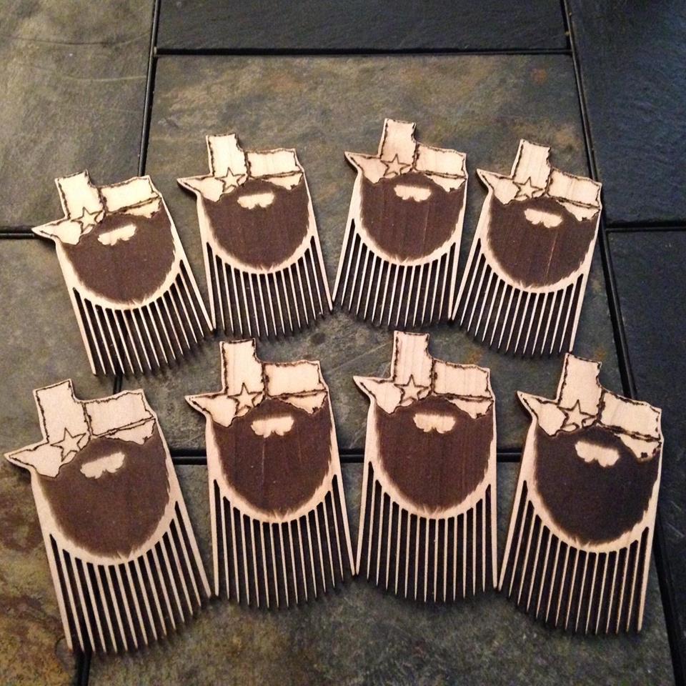 laser cut beard combs by templar beard co