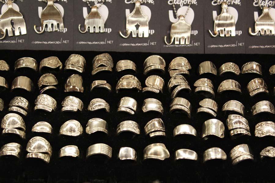 Elefork / Silverware jewelry / fork rings