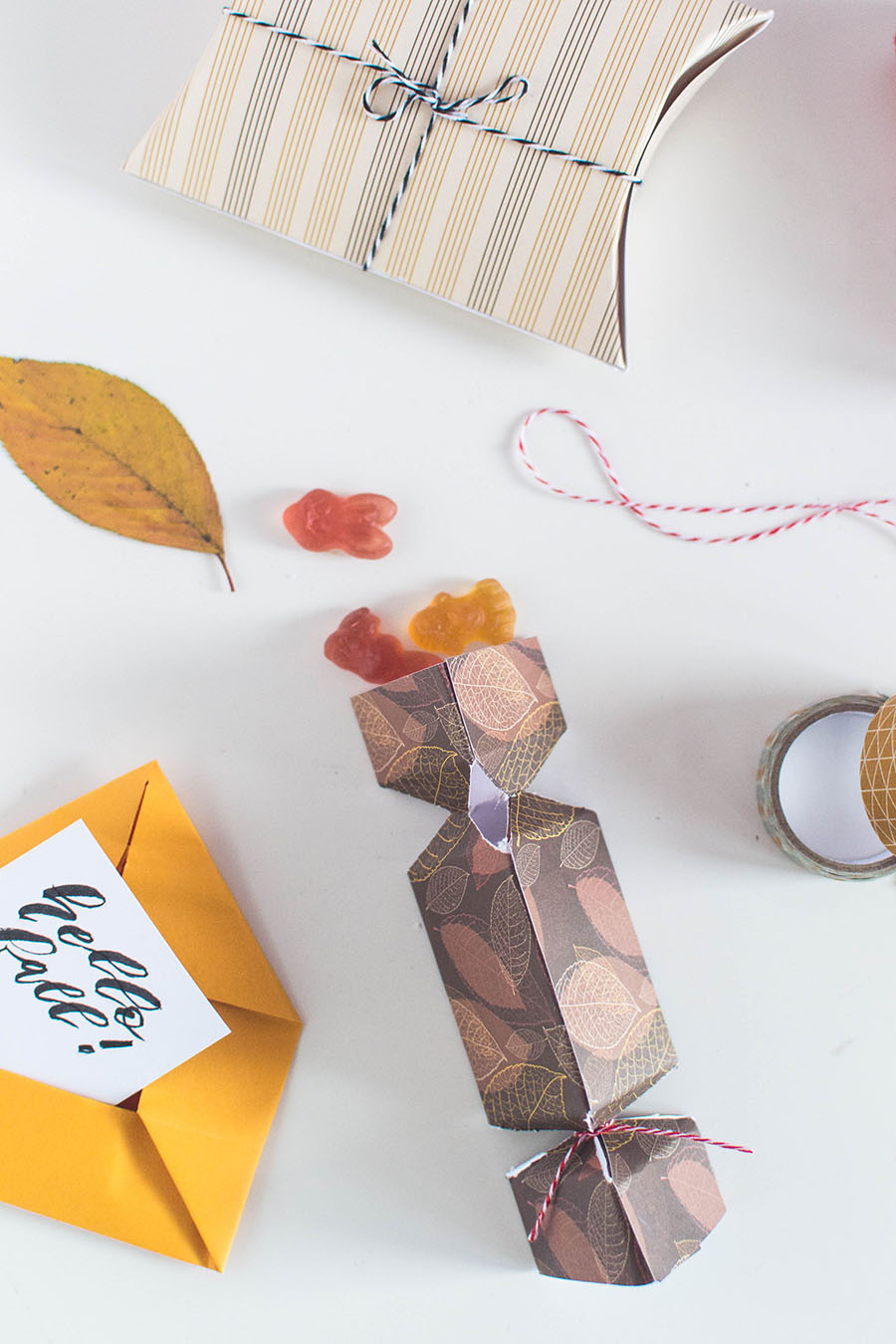 Foldable Autumn DIY Packaging Gift packaging Ideas