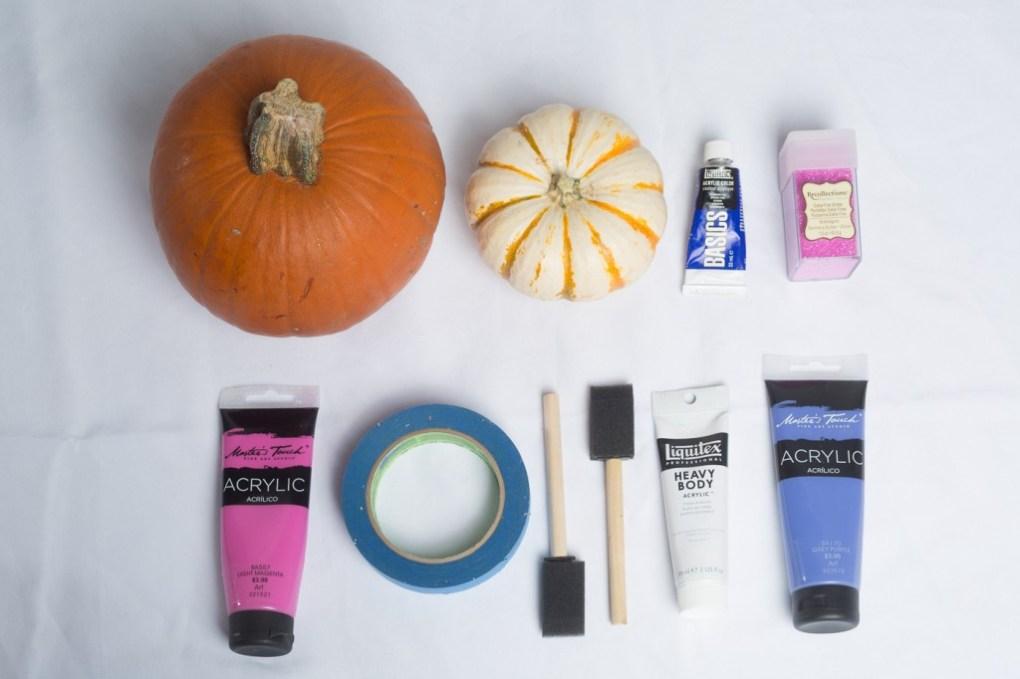 supplies for disco pumpkins diy no carve pumpkins