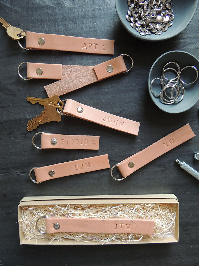 diy leather key ring men's leather diys