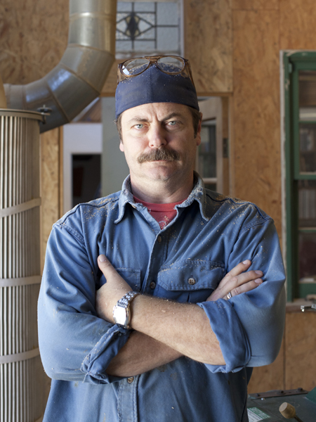 nick offerman - offerman wood shop