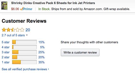 printable shrinky dink paper reviews
