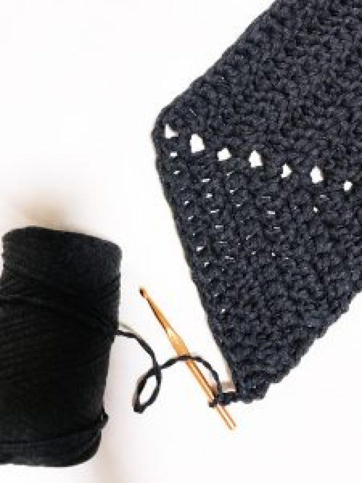 crochet half hexagon rug DIY