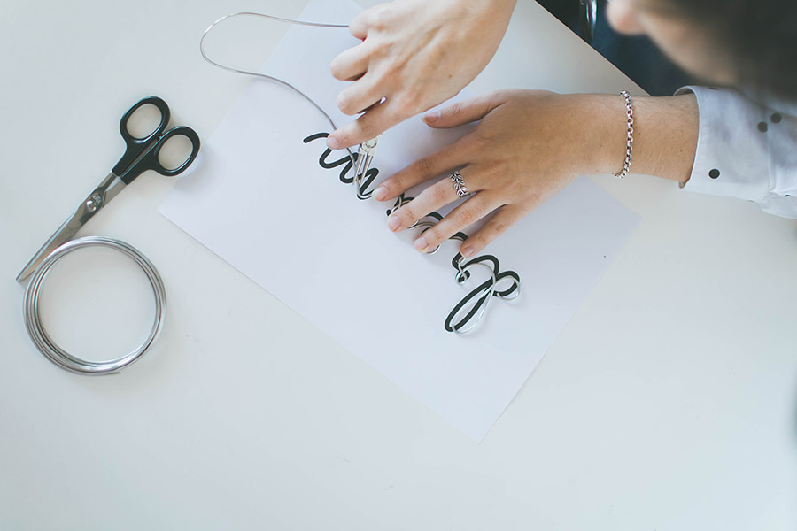 DIY metallic wire signs process how-to