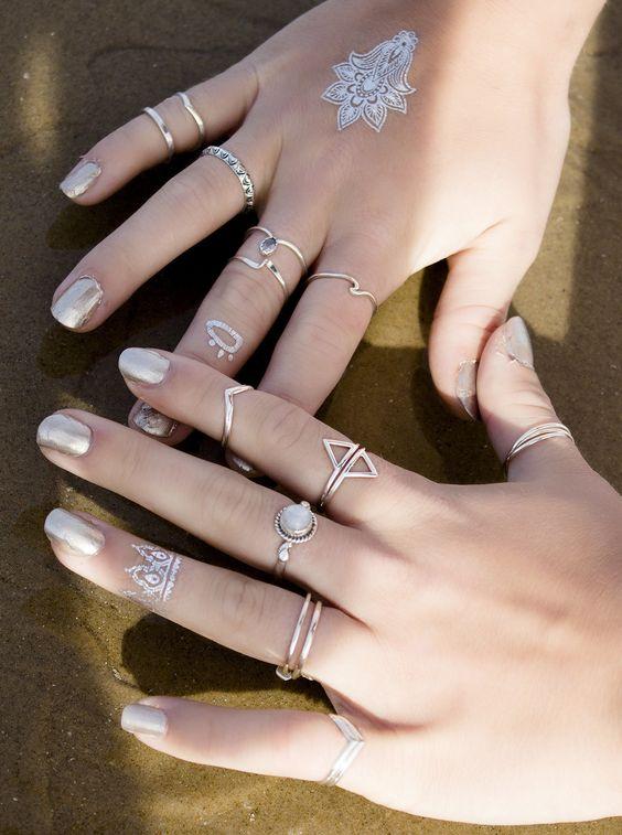 boho lake jewelry shop layered ring inspiration