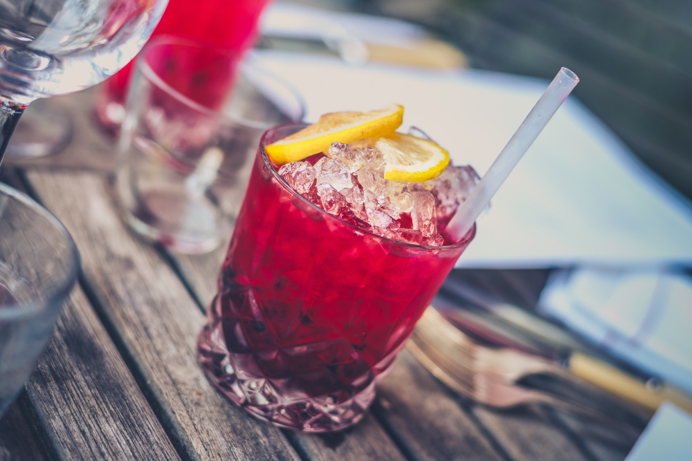 pomegranate cocktail recipe with pom simple syrup pop shop america